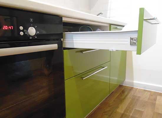 Фото Кухня цвет Фисташка