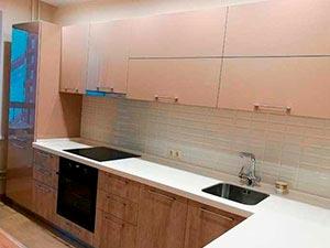 Картинка кухня угловая бежевая