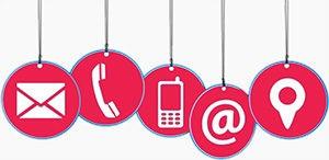 Картинка с изображениями телефона Почты и Конверта