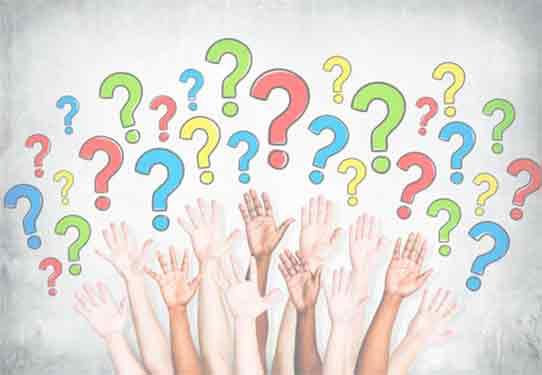 Картинка с изображением - вопросы и руки