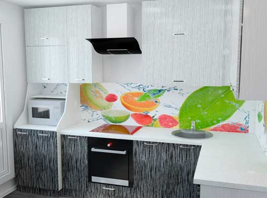 Картинка кухня с белым верхом