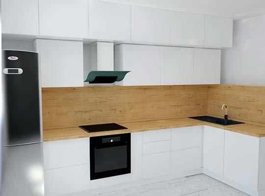 Картинка Белая-кухня-с-рыжим-фартуком